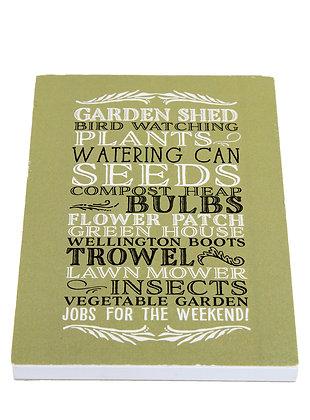 Garden Lover Notebook - Green