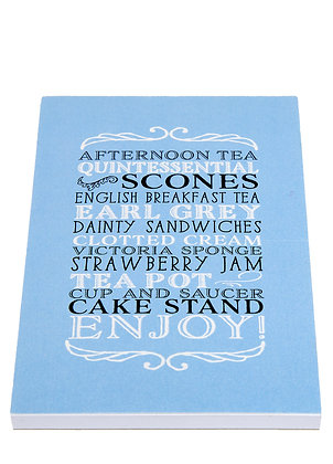 Afternoon Tea Notebook - Baby Blue