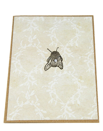 Bee Stamp Collection Card - White Foliage