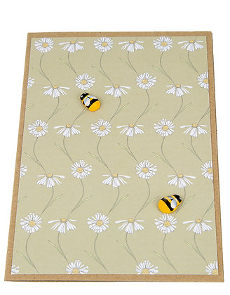 Bee Collection Card - White Daisies