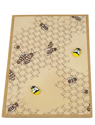 Bee Collection Card - Dual Brown Honeycomb