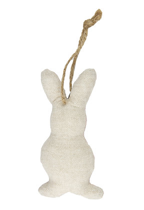 Cream Hanging Bunny Fabric Decoration