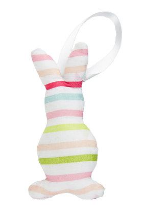 Colour Stripe Hanging Bunny Fabric Decoration