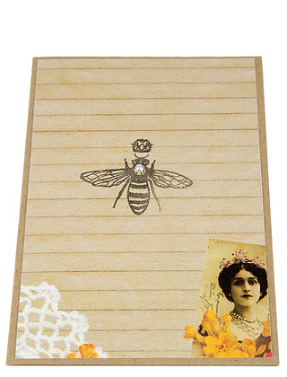 Bee Stamp Collection Card -Collage