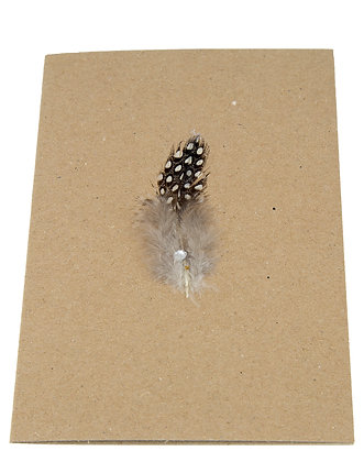 Feather Card - Brown