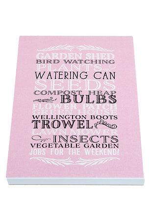 Garden Lover Notebook - Pink