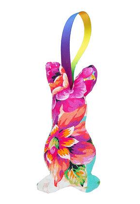 Flower Hanging Bunny Fabric Decoration