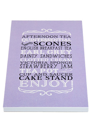 Afternoon Tea Notebook - Lilac