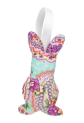 Floral Hanging Bunny Fabric Decoration