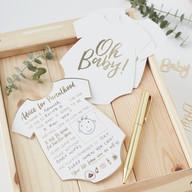 Metallic Gold Baby Advice Cards
