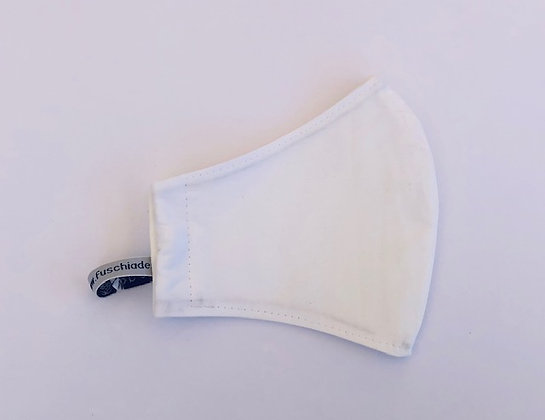 White Fabric Face Mask