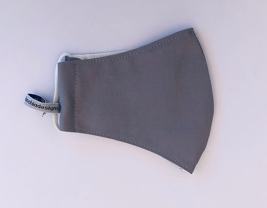 Grey Fabric Face Mask