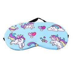 Blue Unicorn Sleep Mask