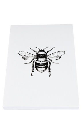 Busy Solo Bee Notebook - White