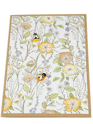 Bee Collection Card - Yellow Flowers