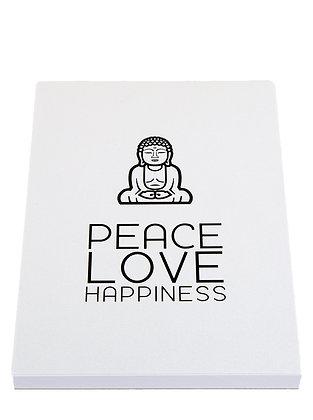 Yoga Lover Notebook - White