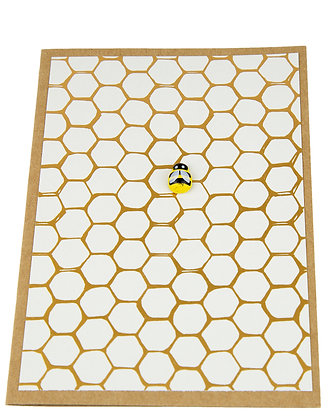 Bee Collection Card - Single Gold Honeycomb