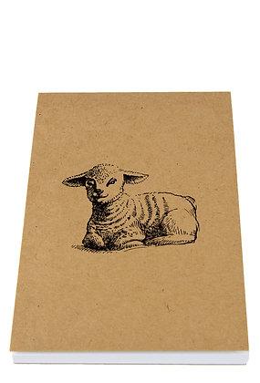 Easter Lamb Notebook - Kraft
