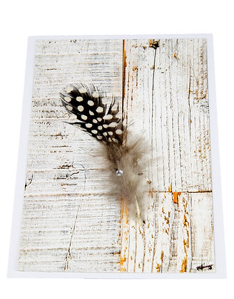 Feather Rustic Card - Brown