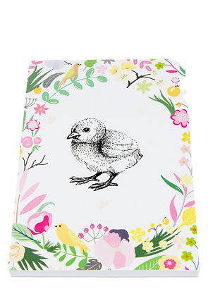 Easter Chick Notebook - Flowers