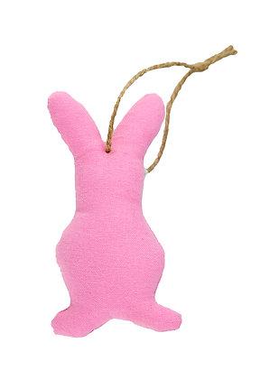 Pink Hanging Bunny Fabric Decoration