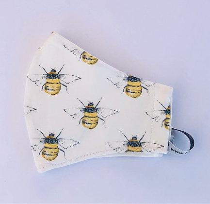 Bumble Bee Fabric Face Mask