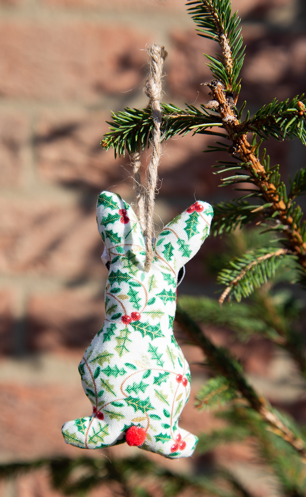 Christmas Handmade Bunny Decoration