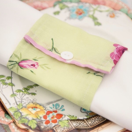 Floral Napkin Wrap & Vintage China