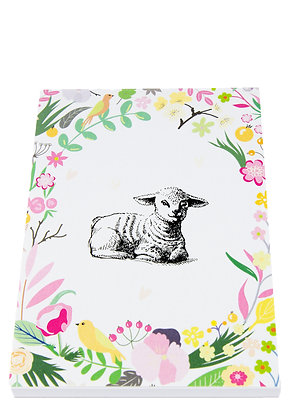 Easter Lamb Notebook - Flowers