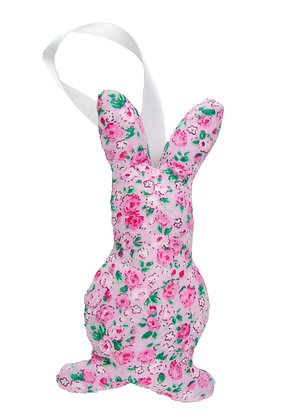 Pink Floral Hanging Bunny Fabric Decoration