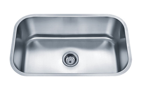 30-inch 18-gauge Undermount Single Bowl Stainless Steel Kitchen Sink