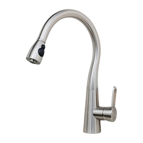 Alessio 17in All Stainless Steel Lead-Free Single-Handle PullDown Kitchen Faucet