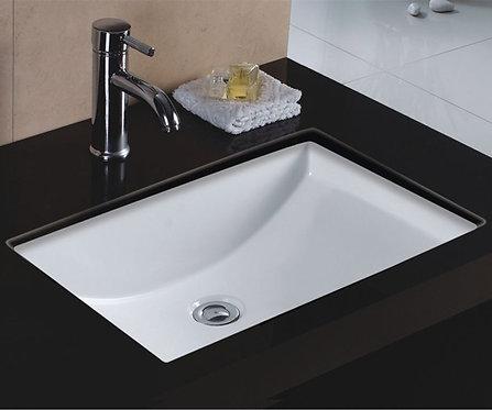 22-inch Rectangular Undermount Single Bowl Bathroom Sink