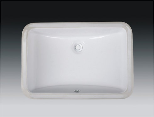 21-inch Rectangular Undermount Single Bowl Bathroom Sink