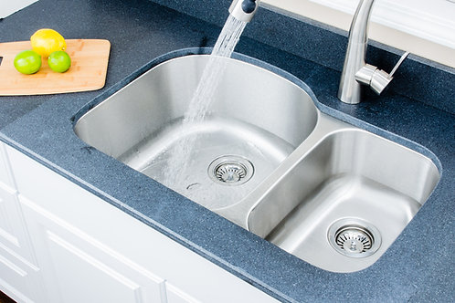32-inch 18-gauge Undermount 70/30 Double Bowl Stainless Steel Kitchen Sink