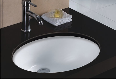 19-inch Oval Undermount Single Bowl Bathroom Sink