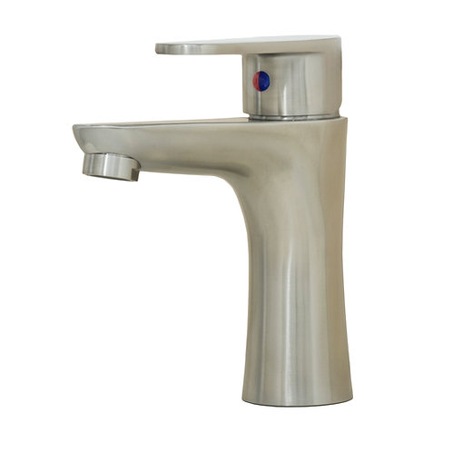 Cellina 6-3/8-inch All Stainless Steel Lead-Free Single-Handle Lavatory Faucet