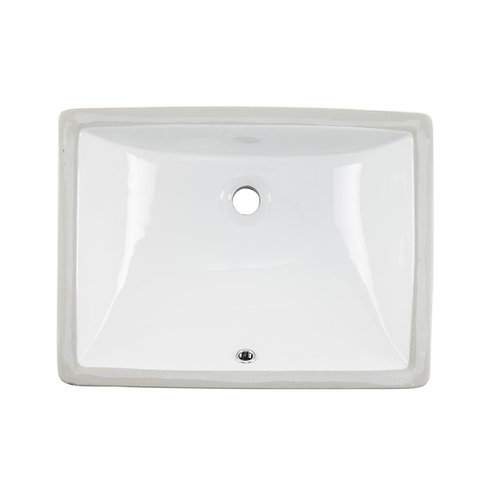 18-inch Rectangular Undermount Single Bowl Bathroom Sink