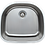 Thumbnail: 24-inch 18-gauge Undermount D-shaped Single Bowl Stainless Steel Kitchen Sink