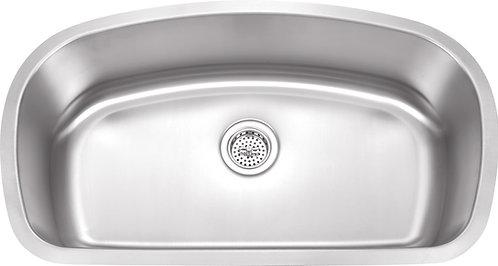33-inch 18-gauge Undermount Single Bowl Stainless Steel Kitchen Sink