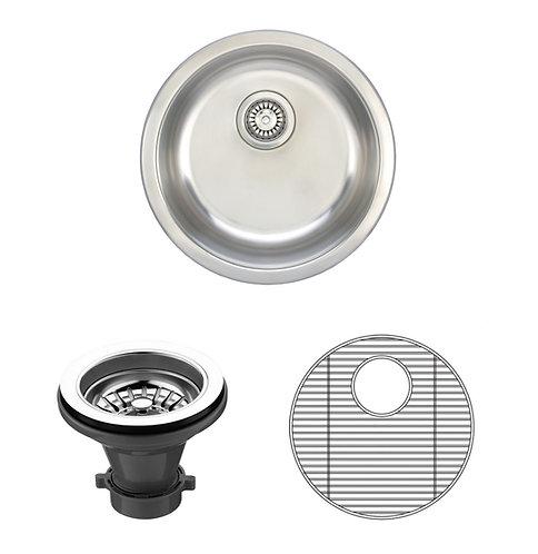 19-inch Round 18-gauge Undermount Single Bowl Stainless Steel Kitchen/ Bar Sink