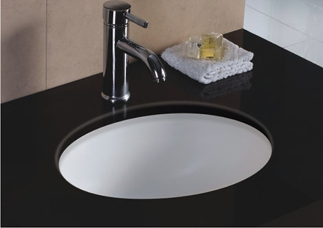 17-inch Oval Undermount Single Bowl Bathroom Sink