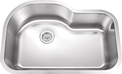 32-inch 18-gauge Undermount Single Bowl Stainless Steel Kitchen Sink