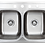 Thumbnail: Halsted Series Top-Mount Stainless Steel 33 in. 4-Hole Double Bowl Kitchen Sink