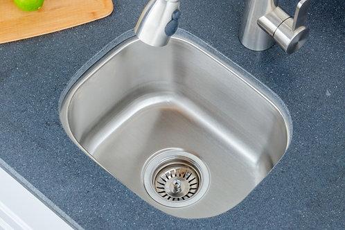 15-inch 18-gauge Undermount Single Bowl Stainless Steel Bar Sink