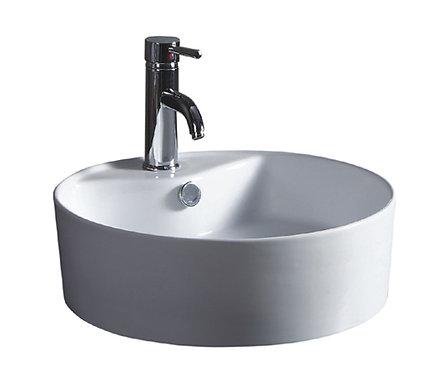 18-inch Round Vitreous Ceramic Vessel Bathroom Sink in White
