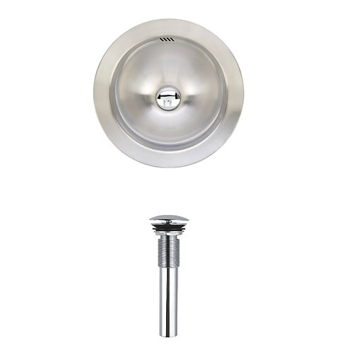 16-inch Round 20-gauge Stainless Steel Vessel Kitchen/ Bar Sink
