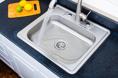 25-inch 20-gauge Drop-in 3-hole Single Bowl ADA Stainless Steel Kitchen Sink