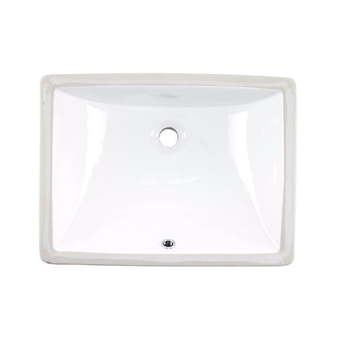 20-inch Rectangular Undermount Single Bowl Bathroom Sink