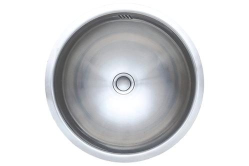 17-inch Round 20-gauge Undermount Single Bowl Stainless Steel Kitchen/ Bar Sink